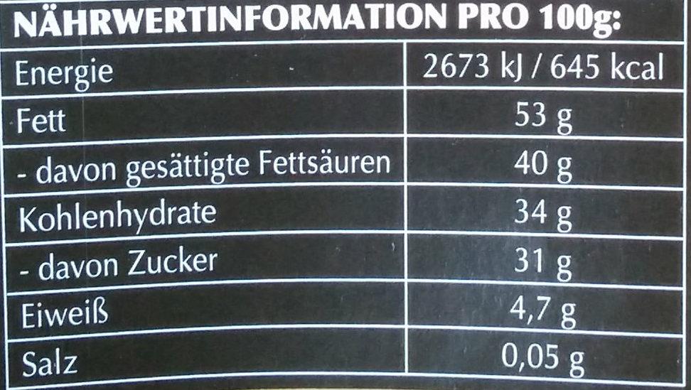 Lindor Dunkel 60% - Informations nutritionnelles - de