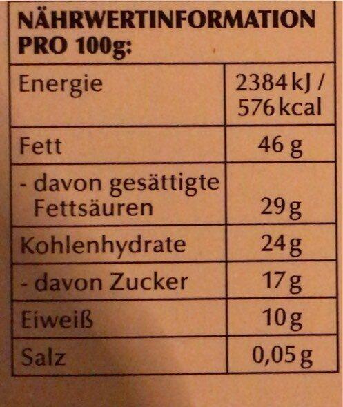 78% Edelbitter Vollmundig - Nährwertangaben - de