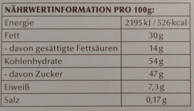 Lindt MINI PRALINÉS - Informations nutritionnelles - de