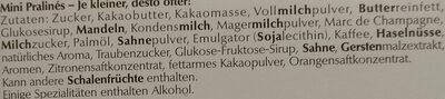 Mini Pralinés 9 Kostbarkeiten - Ingrediënten - de