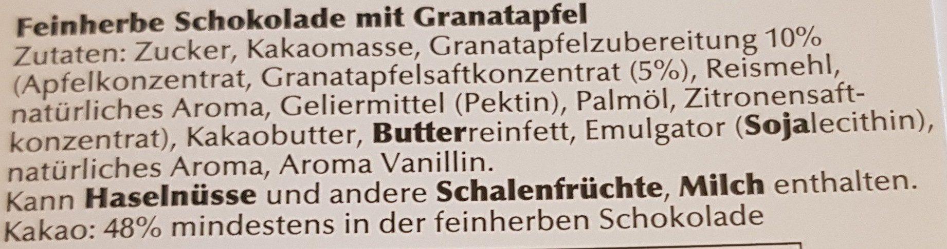 Granatapfel - Ingrédients