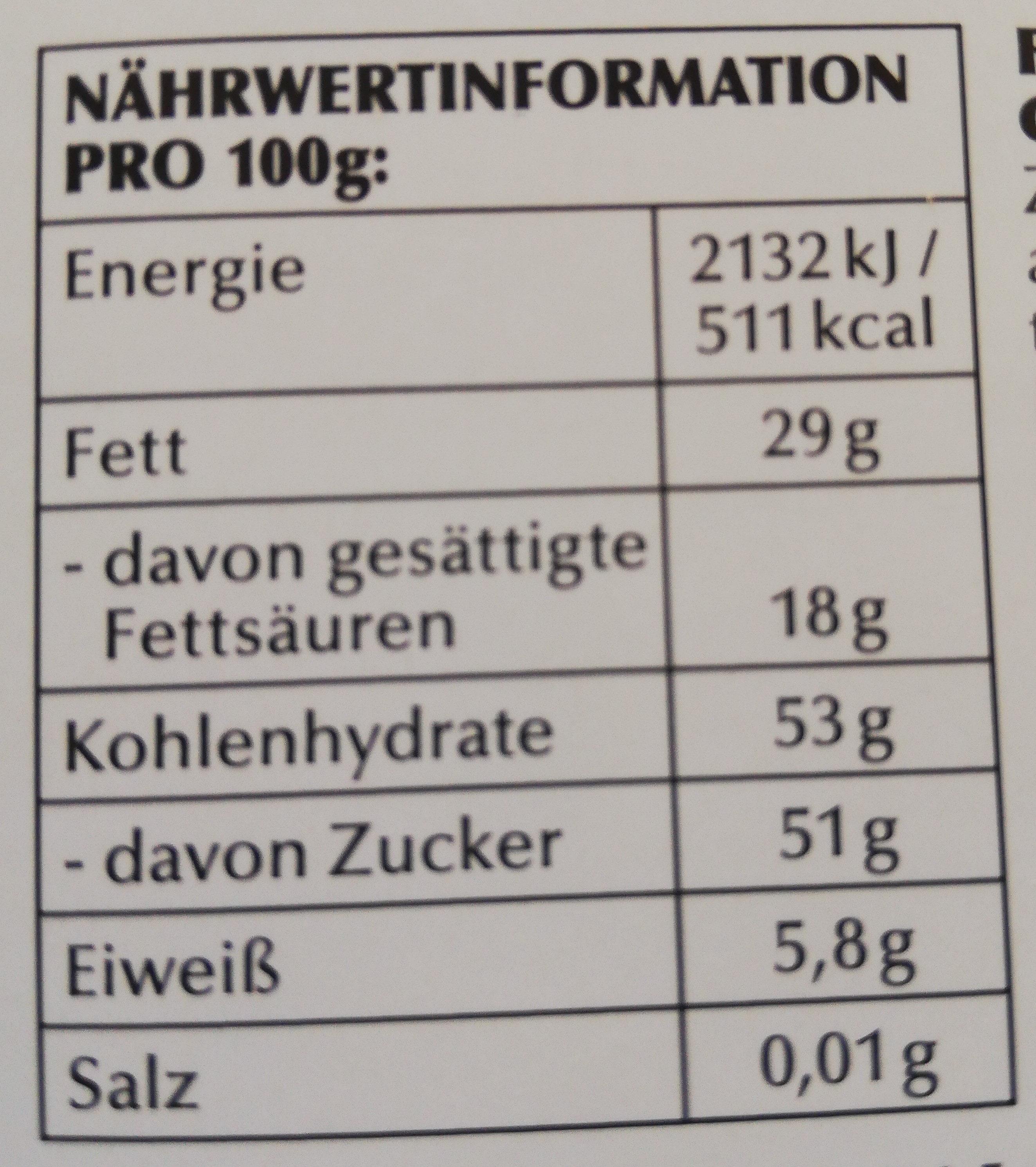 Granatapfel - Informations nutritionnelles