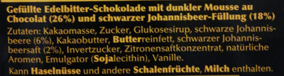 Edelbitter Mousse Schwarze Johannesbeere - Ingredienti - de