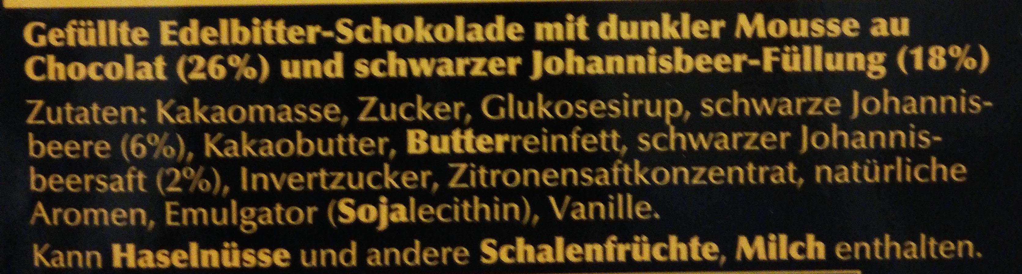 Edelbitter Mousse Schwarze Johannesbeere - Ingrédients