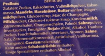 Pralinen - Ingrediënten - de