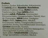 Lindt Mini Pralinés x36 - Ingredients