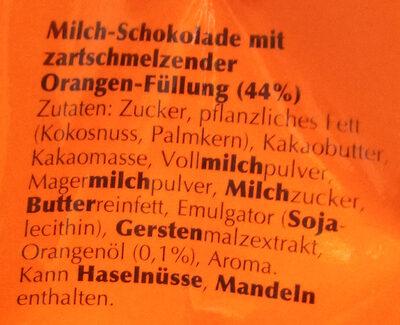 Lindor Orange - Ingredients
