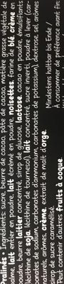 HELLO ASSORTED CHOCOLATE PRALINES - Ingrédients - fr