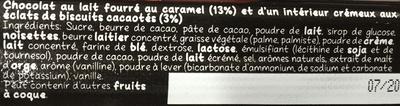 Caramel Brownie - Ingrédients - fr