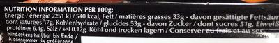 Caramel Brownie - Informations nutritionnelles - fr
