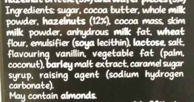 Chocolate - Ingredients - en