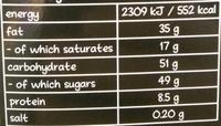 Chocolate - Nutrition facts - en
