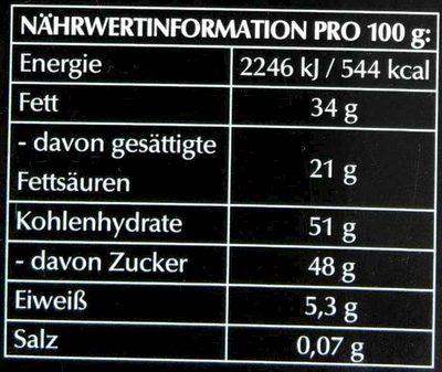 Hello Dark Chocolate Cookie - Informations nutritionnelles - de