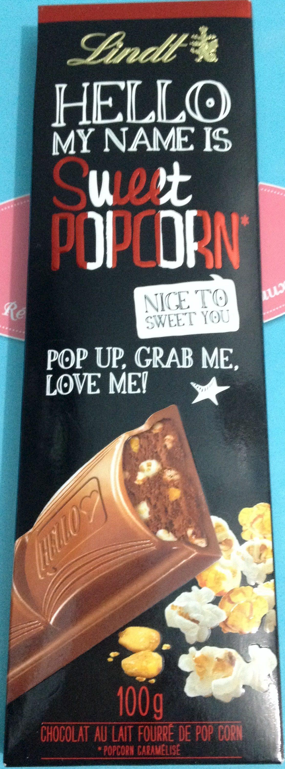 Hello my name is Sweet Popcorn - Produit - fr