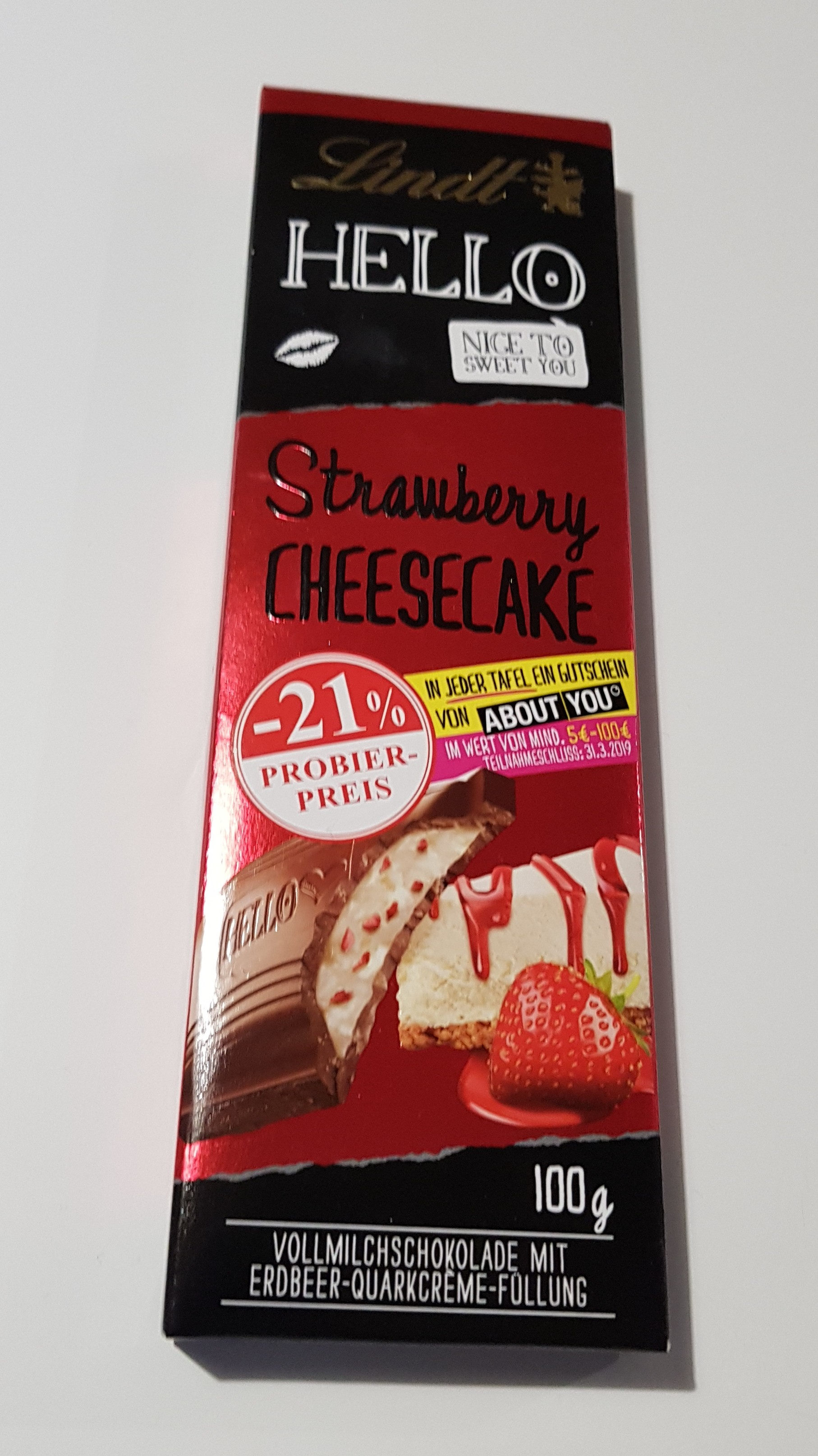 Lindt Hello Strawberry Cheesecake - Product - de