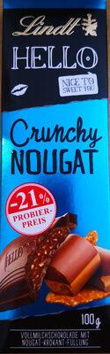 Lindt Hello Crunch Nougat - Produit - de