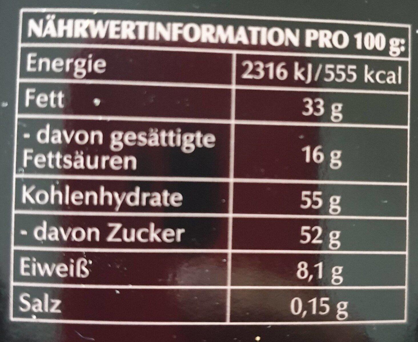 Lindt Hello Crunch Nougat - Informations nutritionnelles - de