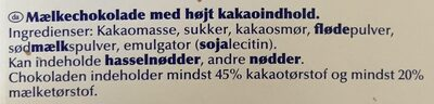 Excellence 45% cacao - Chocolat au lait - Ingredienser - da