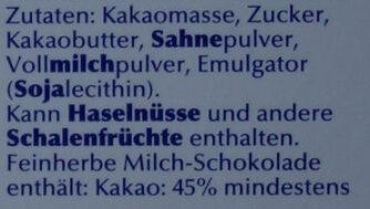 Excellence Milch Chocolade - Inhaltsstoffe - de