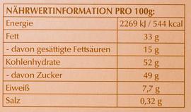 Pralinés Hell & Zart - Nutrition facts