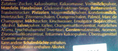 Mini Pralinés - Ingredients
