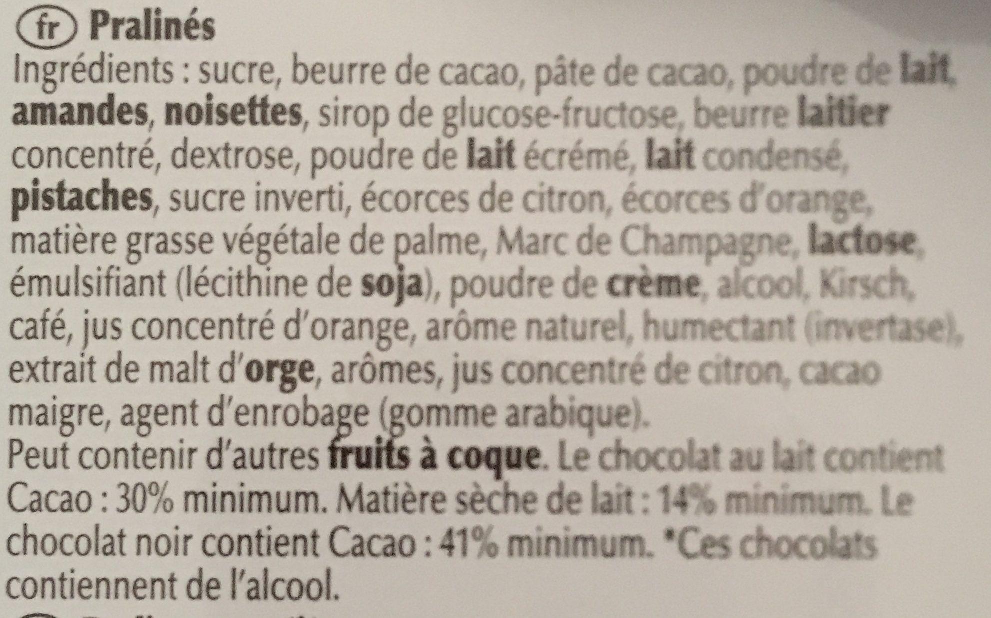 Lindt Mini Pralines - Ingredients