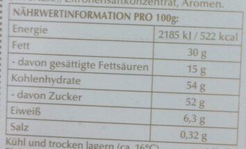 Lindt Für meinen Sonnenschein - Nutrition facts