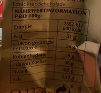 Lindor Mischung - Informations nutritionnelles