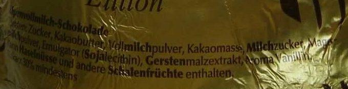 Goldhase Edition - Ingredients - de