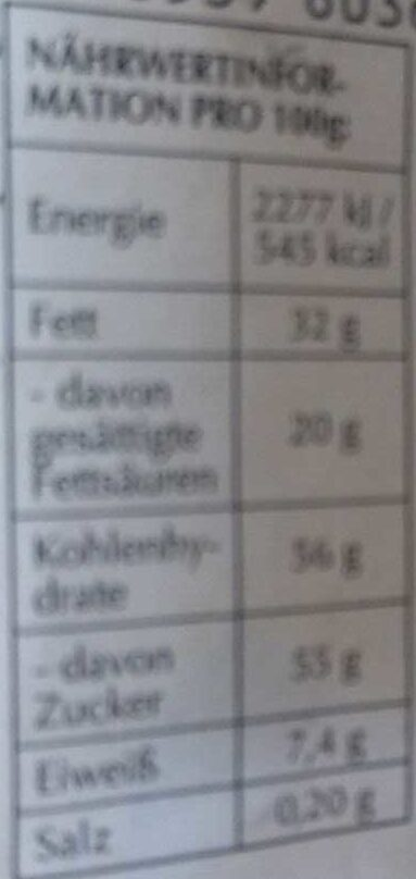 Goldhase Edition - Nutrition facts - de