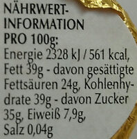 Goldhase Edelbitter - Nutrition facts - de