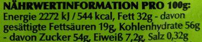 Alpenvollmilch-Schokolade - Valori nutrizionali - de