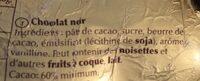Lapin Or Chocolat noir - Ingrediënten