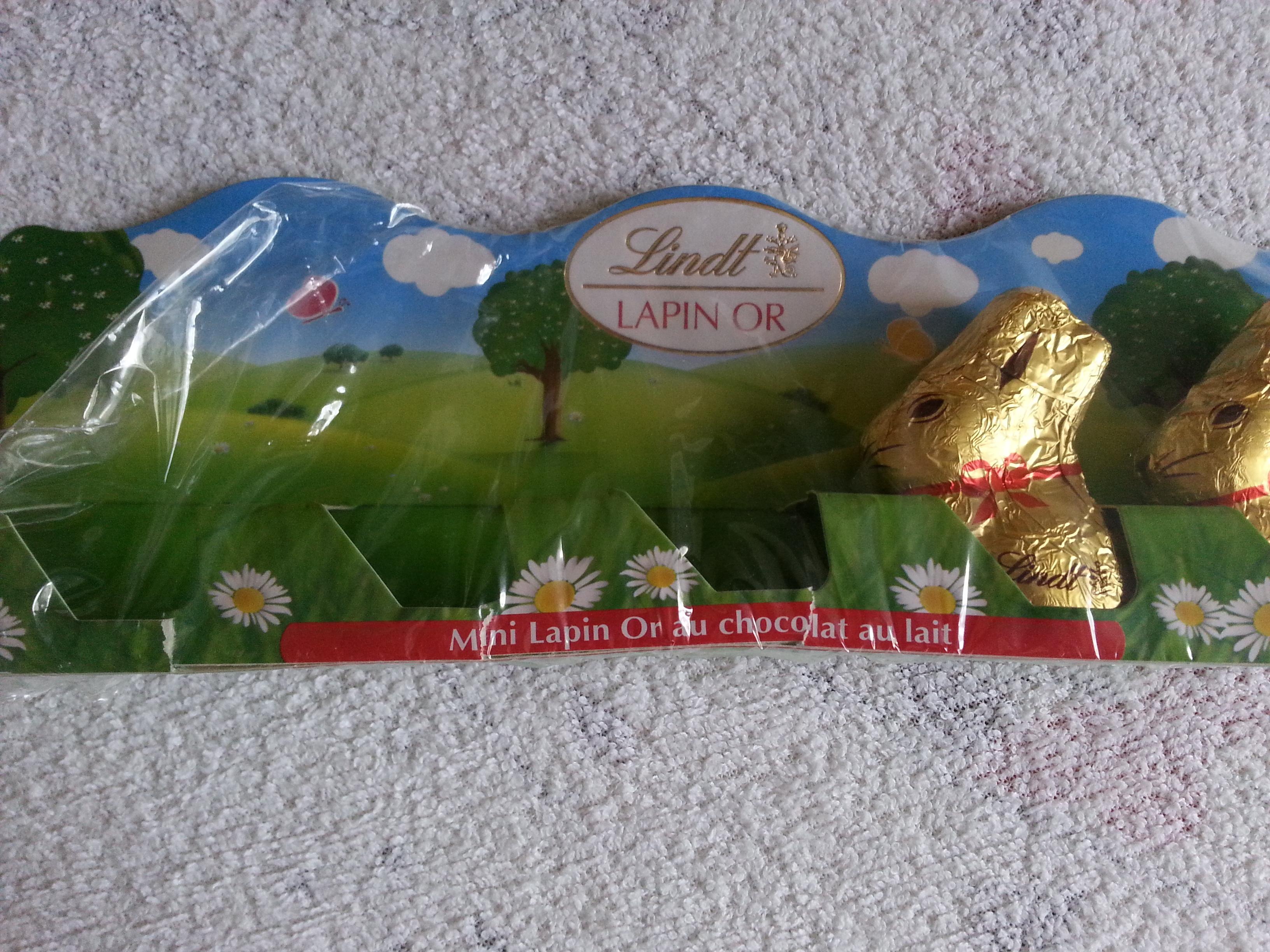 Mini lapin or au chocolat au lait - Product - fr