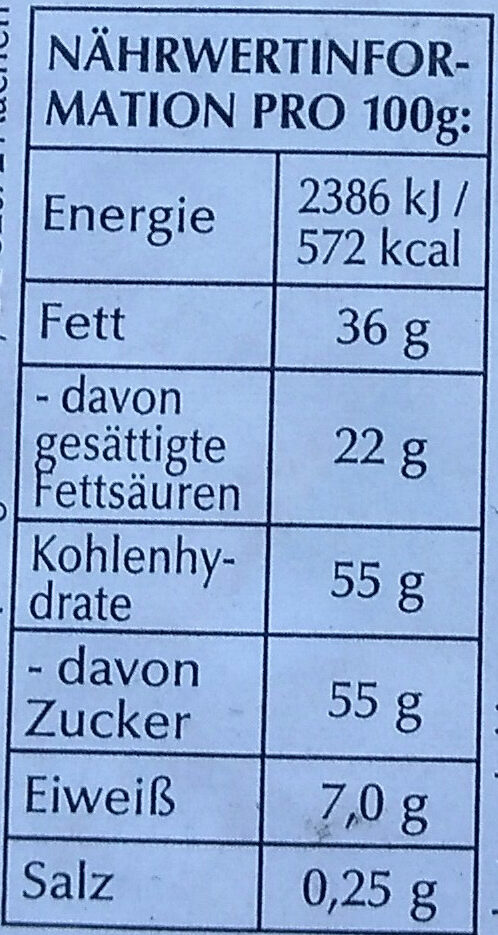 Goldhase weiß - Nutrition facts - de