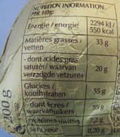 Goldhase - Informations nutritionnelles - fr