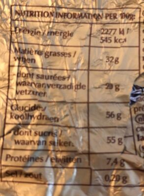 Lapin Lindt au chocolat au lait - Nutrition facts - fr