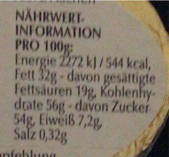 LAPIN OR - Valori nutrizionali - de