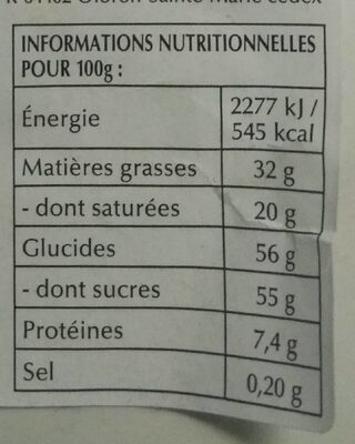 Lapin Or - Nutrition facts