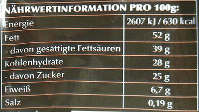 Lindor Kugeln Extra-Dunkel - Informations nutritionnelles