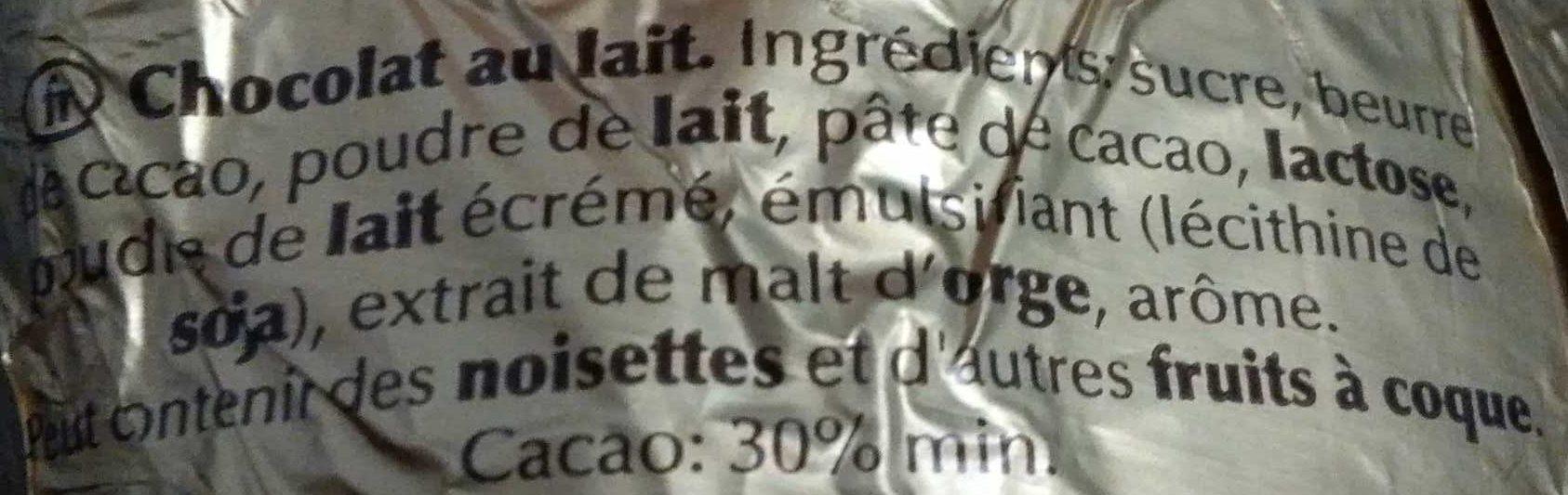 Ours au chocolat au lait - Ingredienti - fr