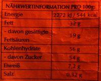 Schokoladen-Weihnachtsmann - Informations nutritionnelles - de