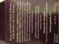 Hafer Porridge Beere - Ingredients - de