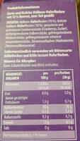 Hafer Porridge Beere - Nutrition facts - de