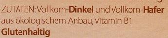 Schmelzflocken Dinkel-Hafer - Zutaten - de