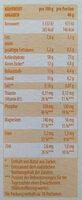 Veggie-Müsli Karotte & Ingwer - Nutrition facts