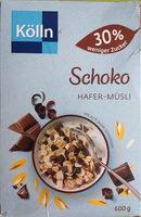 Schoko Hafer-Müsli 30% weniger Zucker - Prodotto - de
