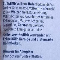Schoko Hafer-Müsli 30% weniger Zucker - Ingredienti - de