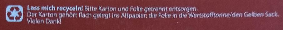 Schoko Hafer-Müsli 30% weniger Zucker - Istruzioni per il riciclaggio e/o informazioni sull'imballaggio - de
