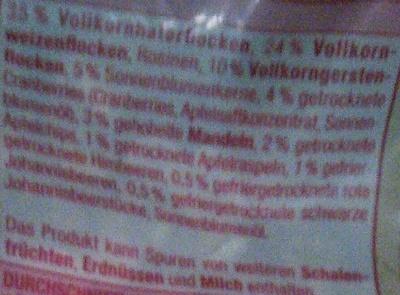 Mühlenklassiker mit feinen roten Beeren - Ingrediënten - de